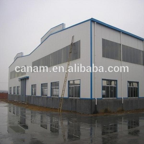 Widely used prefabricated steel structure two story hotel building Warehouse #1 image