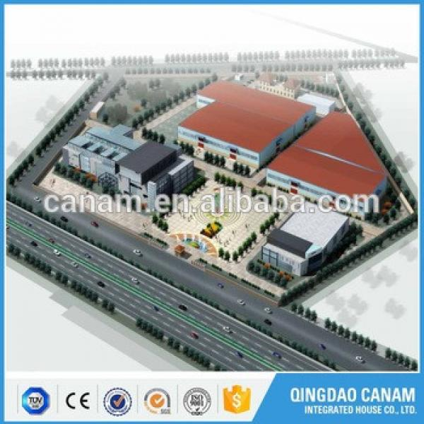 china manufacturer pre-engineered steel structure building shopping mall #1 image