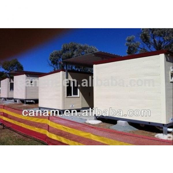 folding container house container house luxury deepblue steel house villa #1 image