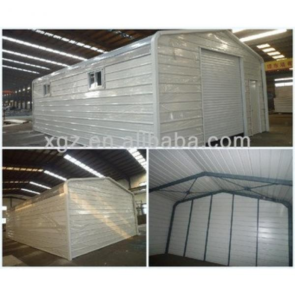 Prefab low cost steel car shed design #1 image