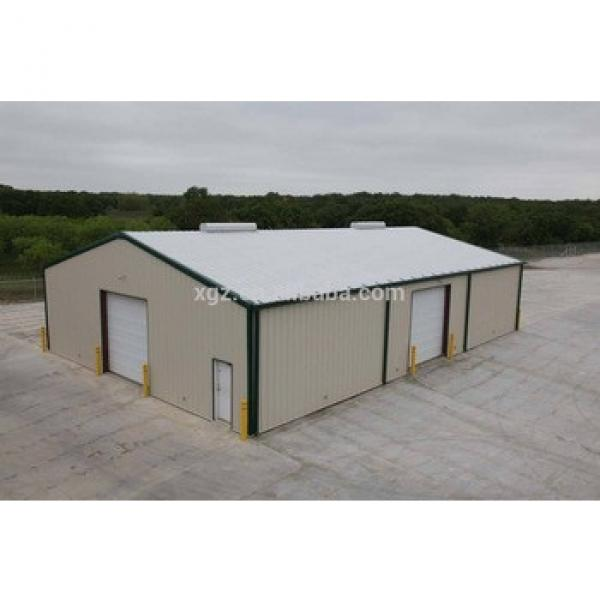 Prefabricated steel fabrication garage shed #1 image