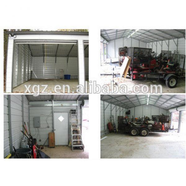 Pre-engineered Light Frame Steel Structure Garage for four cars #1 image
