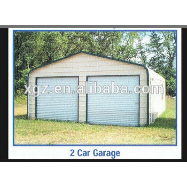 Prefabricated Light Steel Structure Garage for two cars #1 image