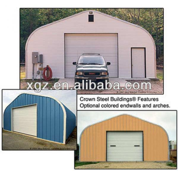 Prefab low cost steel car shed #1 image