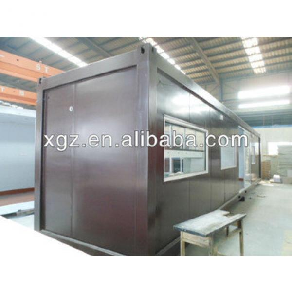 Steel structure flat pack 40 feet shipping container house #1 image