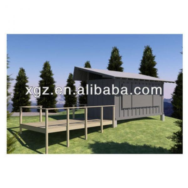 20 feet prefabricated container house with slope roof #1 image