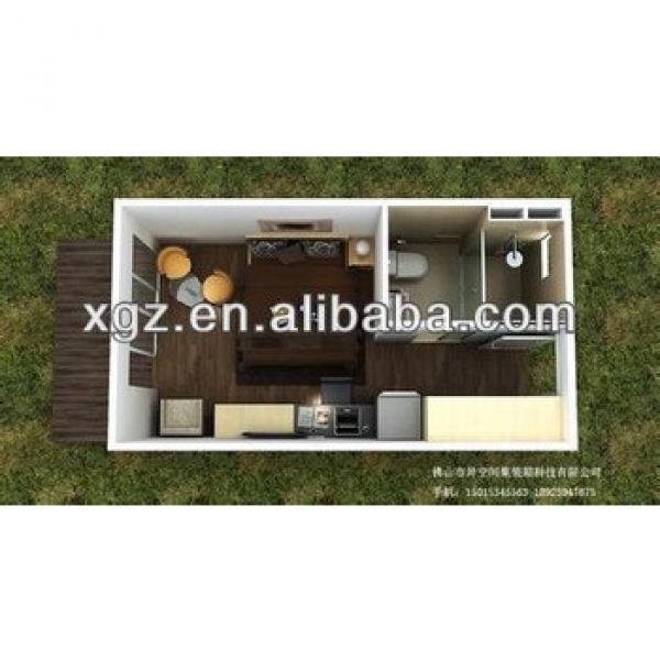Movable 16 feet steel structure container home #1 image