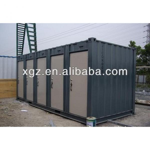 40 feet steel structure container house for mobile toilet #1 image