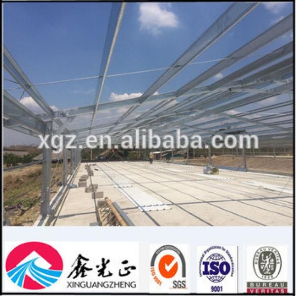 Steel Structure Poultry Broiler House with equipments build in Ecuador #1 image