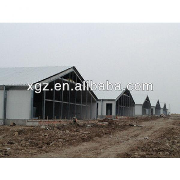 economical prefab glass wool sandwich panel steel structure chicken house for sales #1 image