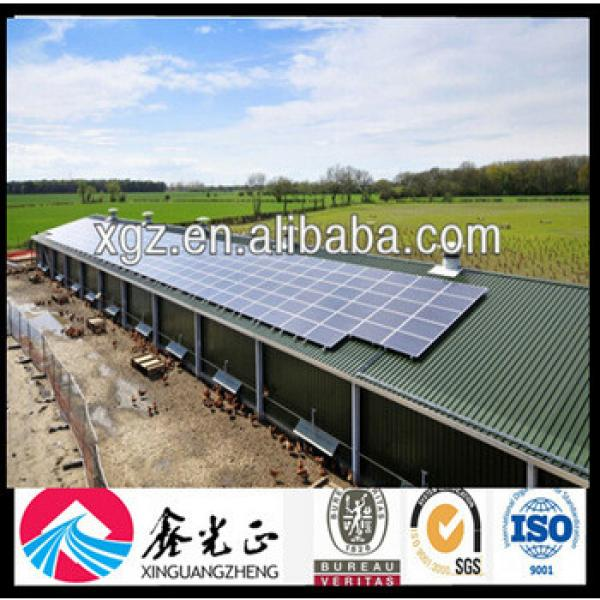 Low Cost Prefabricated Structural Steel Chicken House #1 image