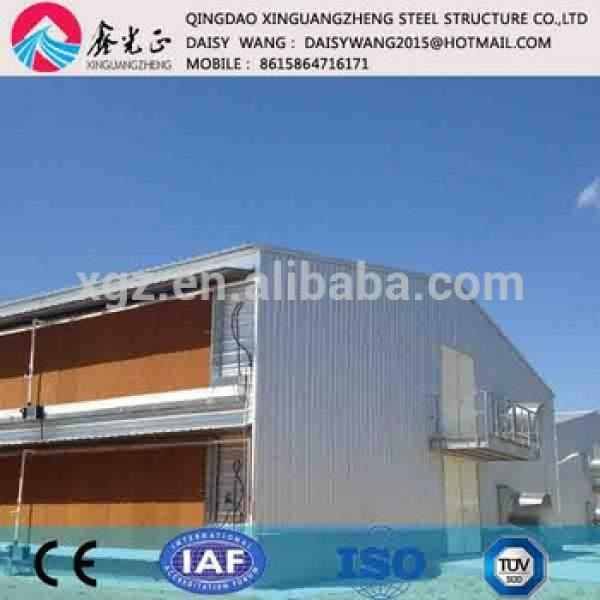 Prefabricated steel layer chicken farm house and cage system #1 image