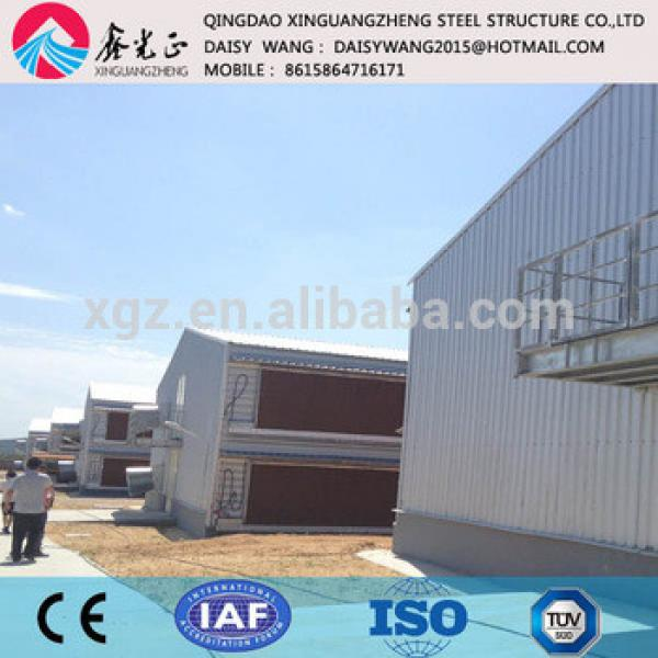 Supply light weight steel chicken farm house and cage system #1 image