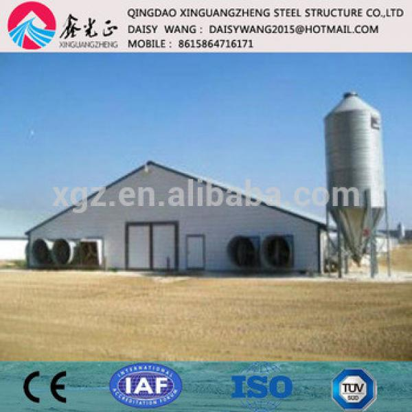 Chinese Modern automatic steel structure poultry chicken farm house #1 image