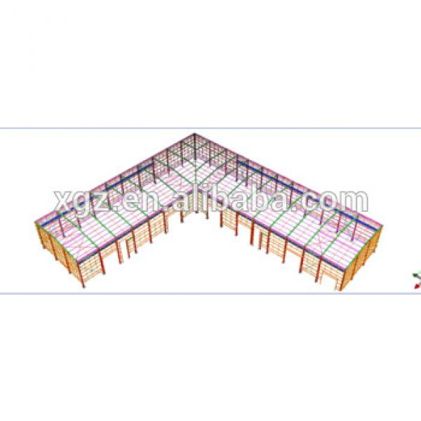 Ethiopia steel structure L shap warehouse #1 image