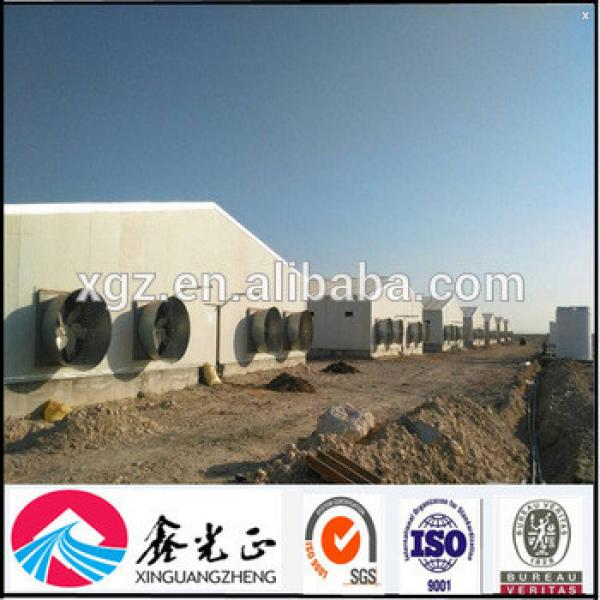 Prefabricated sandwich panel steel structure poultry chicken houses #1 image