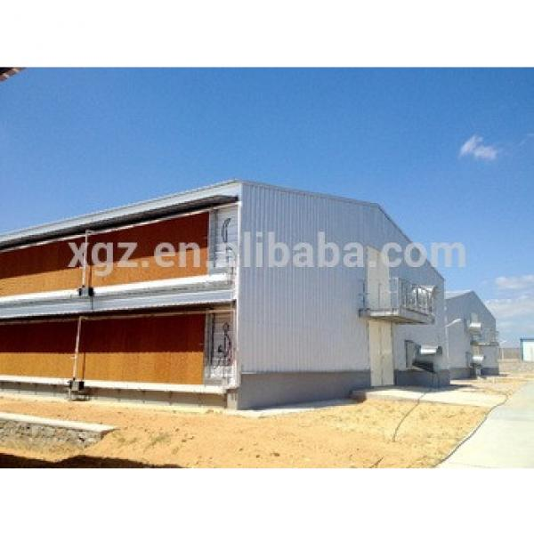 Prefab Steel Structure Poultry House Broiler Layer Chicken Egg Poultry Farm #1 image