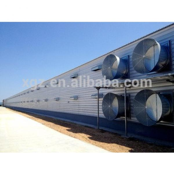 Prefab Building Steel Structure Poultry Farm Layer Chicken Egg House #1 image