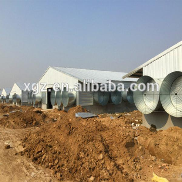 Prefabricated Steel Frame Yellow Door Poultry House #1 image