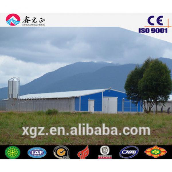 Chicken feeding equipments/Steel structure poultry farm, chicken house(JW-16093) #1 image