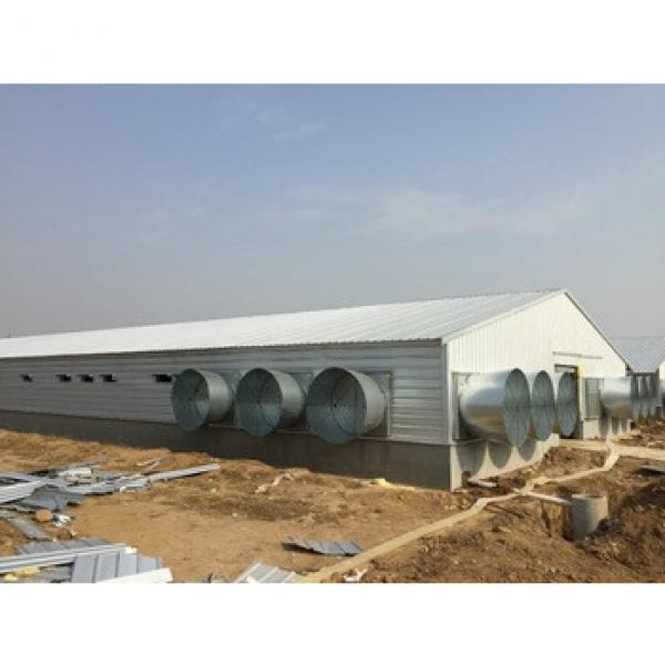 Mobile fireproofed prefabricated panel steel structure poultry prefabricated houses #1 image