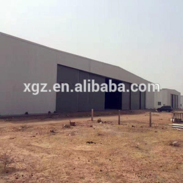 Prefabricated Steel Structure Construction Aircraft Hangar Plans #1 image