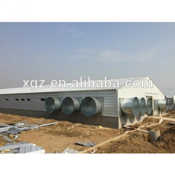Prefabricated steel structure poultry house and poultry farming #1 image