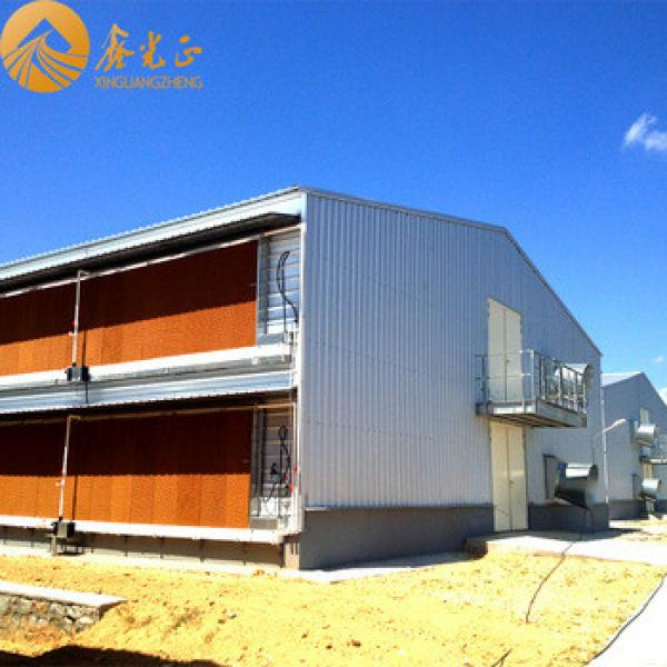 2016 China newest prefabricated chicken green house modern design with steel structure in low cost for sale #1 image