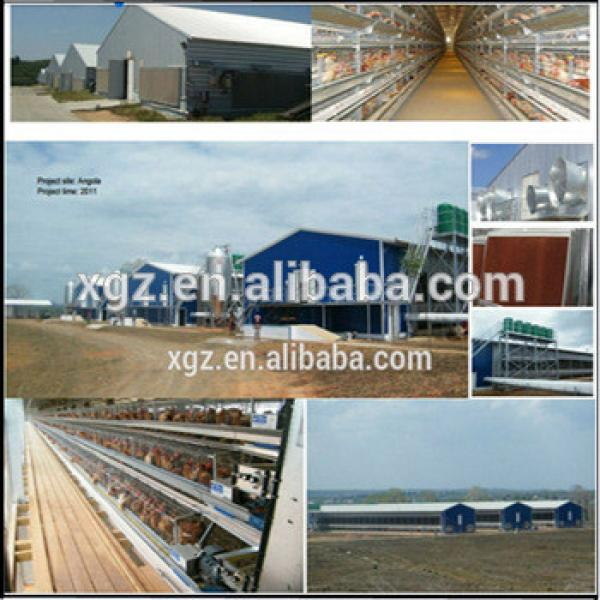 Prefabricated steel structure farm broiler poultry house shed construction design chicken house #1 image