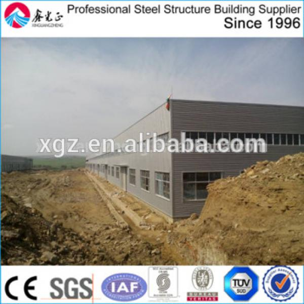 Algeria Low Cost Steel Structure Workshop With Crane #1 image