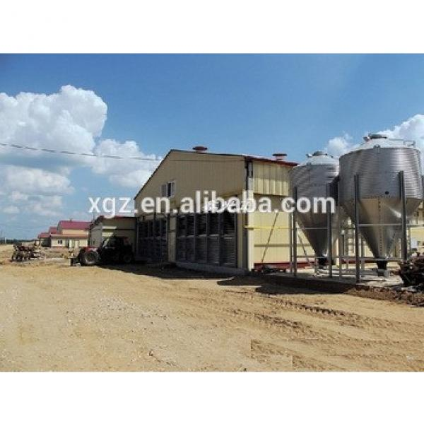 Prefabricted Steel Structure Chicken Poultry Farm House For Broiler #1 image