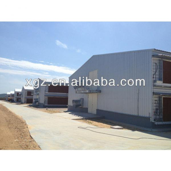 high quality light steel structure chicken farming house feeding broiler for 2 floor design #1 image