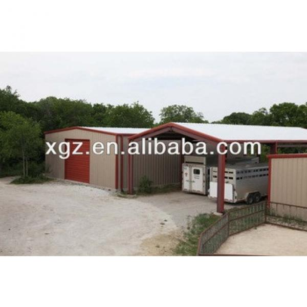 China Made Galvanized Prefabricated Farming Steel Structure Building Sheds For horse/pig/sheep #1 image
