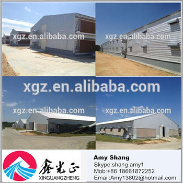 Low cost prefabricated steel structure chicken houses and poultry farm with feeding system #1 image