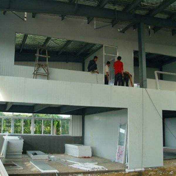 Low Cost Prefabricated Steel Structure Two Story Building Warehouse #1 image