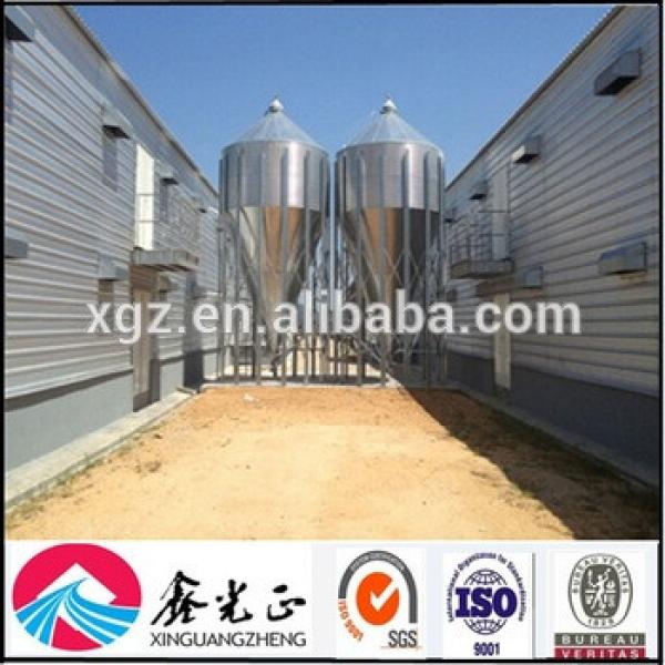 Prefabricated steel structure chicken house and poultry house with feeding system #1 image