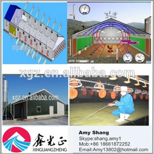 Economical prefab light steel structure chicken poultry house #1 image