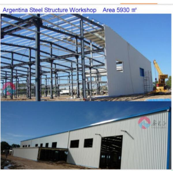 High quality and beautiful appearance steel structure prefabricated workshop/warehouse #1 image