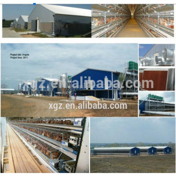 high quality Steel Structure building layer poultry chicken farm shed design #1 image