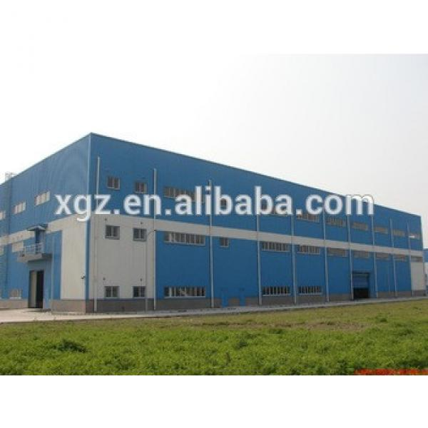 High strength Prefabricated Steel warehouse/workshop/hangar/hall steel structure price #1 image