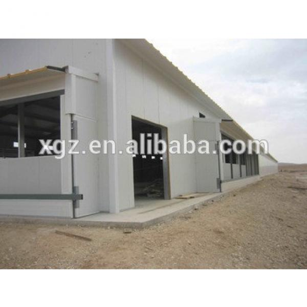 automatic feeding system steel industrial shed poultry prefab house for broiler #1 image