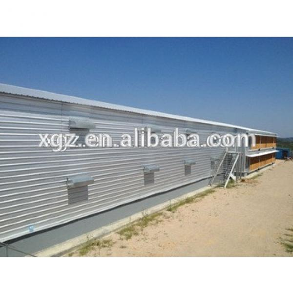 cheap modern design poultry house steel chicken shed with automatic equipment for sale #1 image