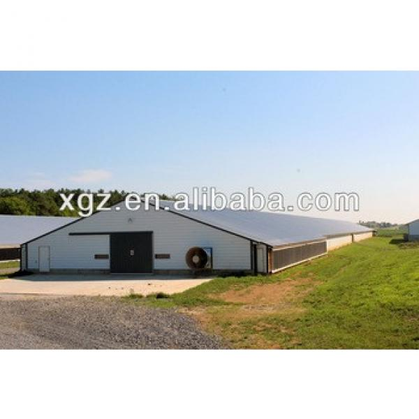 low price steel structure poultry shed construction with advanced automated equipments #1 image