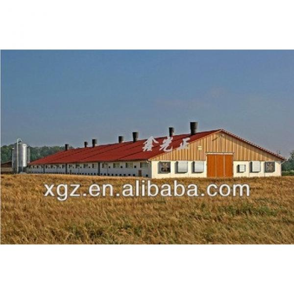best price automic chicken feeding equipment prefabricated broiler house poultry shed design #1 image
