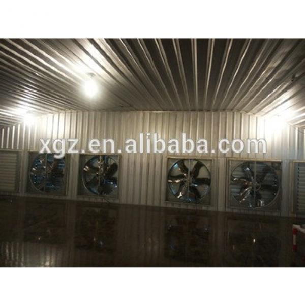 modern design steel structure broiler poultry sheds with low cost automic chicken feeding equipment #1 image