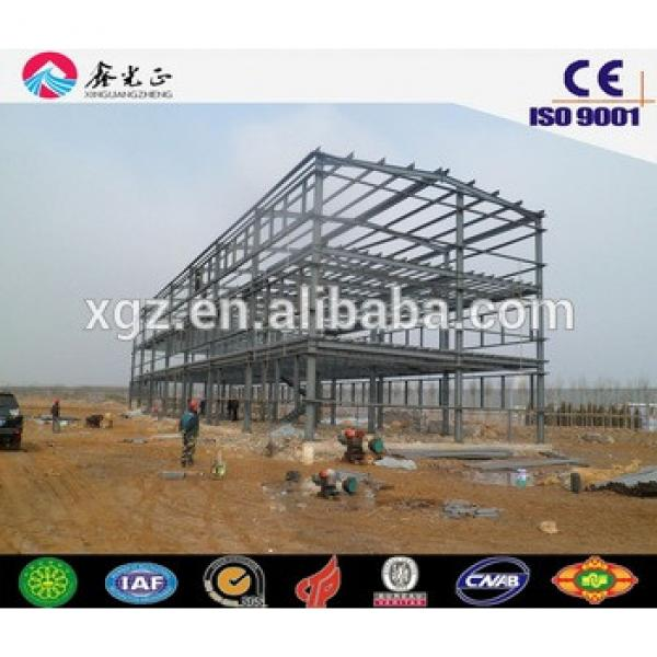 Low cost prefabricated steel structure industrial building warehouse #1 image