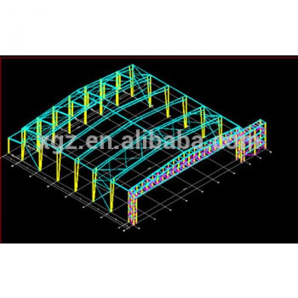 prefabricated steel structure warehouse drawings #1 image