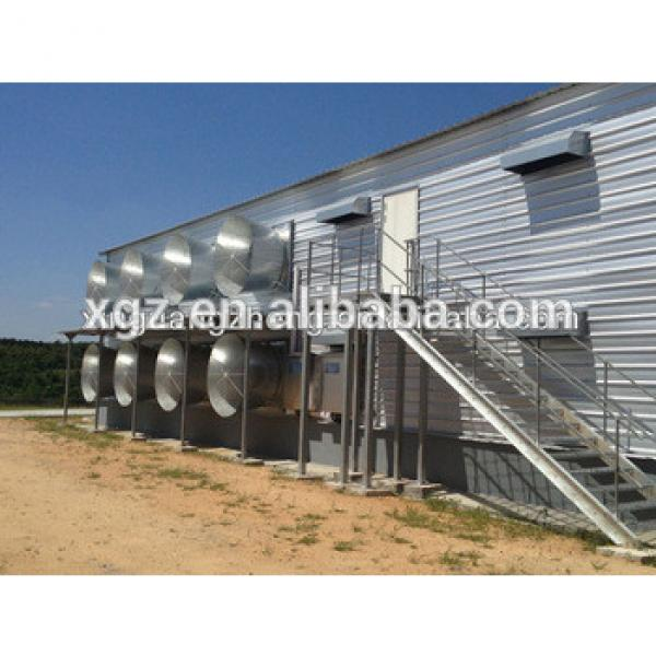 Closed poultry house Type and Steel material poultry farming shed #1 image