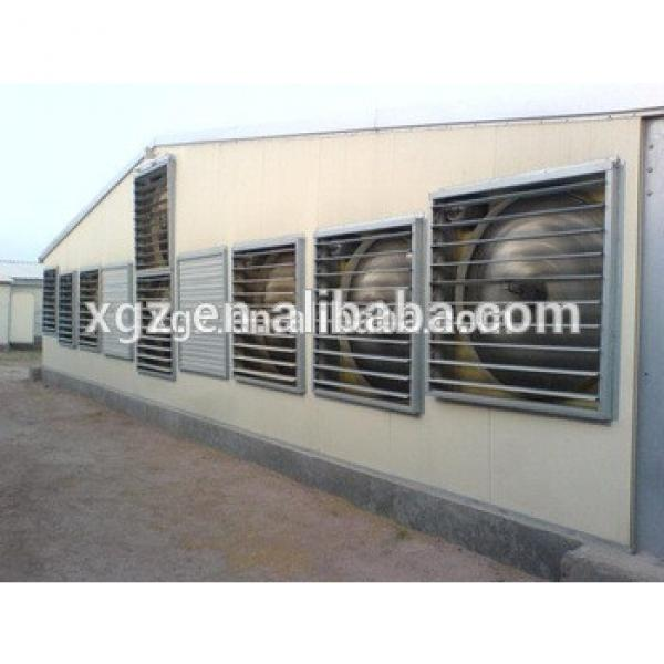 cheap steel structure chicken poultry house #1 image