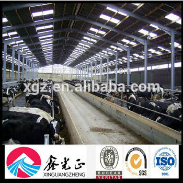 Steel Structure Prefabicated Cowshed for Poultry Farm #1 image